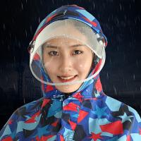 雨衣电动车雨披摩托车雨披单人男女面罩式雨衣电动车雨衣