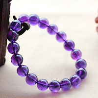 天然紫水晶手链正品通透乌拉圭深色紫晶手串女款饰品