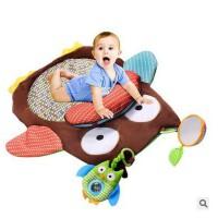 婴幼儿猫头鹰毯子游戏毯宝宝爬行垫适合0-3岁的宝宝游戏垫活动垫