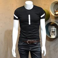 男装短袖T恤衫圆领简约青年半袖打底衫