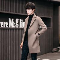 2017冬季毛呢大衣男士中长款风衣呢子外套韩版修身帅气潮英伦冬装