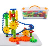 橙爱 乐趣齿轮积木 大颗粒连锁旋转拼插建构积木 早教益智玩具