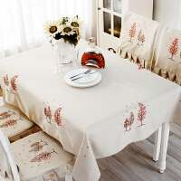 北欧桌布椅子套套装棉麻韩式餐桌布台布茶几桌垫桌布椅子套 圣诞树 桌布+6套椅套靠背