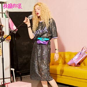 妖精的口袋初恋裙2018新款复古蕾丝镂空短袖性感连衣裙女