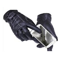 冬季保暖骑车手套骑 触屏手套男士皮手套女士开车手套 车皮手套