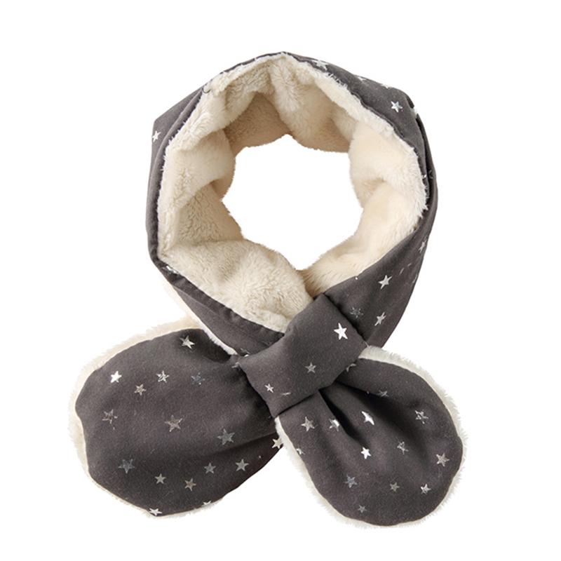 宝宝围巾秋冬儿童围脖婴儿围脖冬季保暖男童女童加绒加厚小童围巾