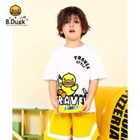 【3折价:68.7】B.Duck小黄鸭童装男童圆领短袖T恤BF2101935