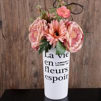 布拉格陶瓷花瓶绣球客厅花瓶仿真花套装餐桌花瓶仿真花套装花瓶