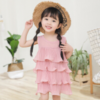 女童连衣裙夏装儿童的公主裙新款雪纺宝宝裙子小女孩童装
