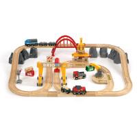 [当当自营]BRIO 货运豪华级轨道套装 儿童益智拼插木制轨道小火车玩具 BR33097