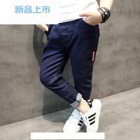 童装男童牛仔裤 儿童裤子韩版春装2018新款中大童薄款长裤