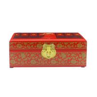 新娘妆饰品首饰盒 木质 仿复古平遥漆器 结婚梳化妆饰品 情人节礼物