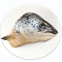 速鲜 智利进口新鲜冷冻三文鱼头400-600g/只 鲑鱼头 海鲜烧烤食材