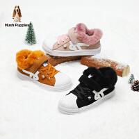 【159元任�x2�p】暇步士Hush Puppies童鞋男女童��ゎ^潮流休�e鞋�和�毛毛加�q保暖�\�有�防滑�W生鞋(5-10�q