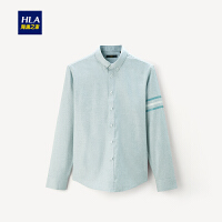 HLA/海澜之家清新休闲长袖衬衫2019秋季新品舒适柔软长袖衬衫男