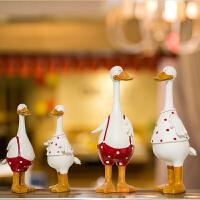 情侣鸭子婚房摆件结婚客厅装饰品欧式吊脚娃娃摆设家居送闺蜜