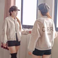 仿羊羔毛外套女秋女装韩版宽松皮毛一体短外套8865