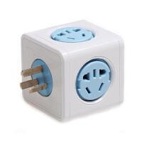 无线电源插座转换插头 出国旅行旅游无线魔方插座转换USB防雷扩展插座