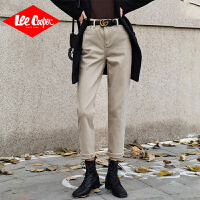 Lee Cooper 新款个性高腰牛仔裤网红百搭显瘦显高宽松直筒裤 LCKLY080