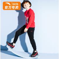 【满99-20】安踏儿童卫衣裤子休闲运动两件套童装2021春秋新款中大童男童套装 A35938786