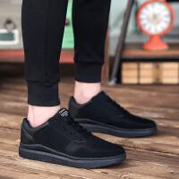 纯黑色男鞋夏季网面透气运动鞋男休闲网布鞋低帮全黑色镂空网鞋男