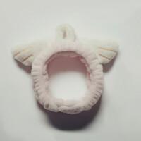 韩国可爱加厚洗脸发带面膜化妆束发带简约甜美头饰毛绒森女系发箍
