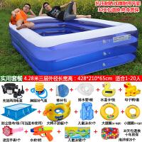 婴儿游泳池家用超大号儿童充气游泳池加厚婴儿宝宝家用游泳桶大型小孩戏水池