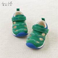 夏季男童镂空牛绒皮凉鞋 机能鞋