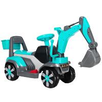 儿童电动挖掘机男孩玩具车挖土机可坐可骑大号钩机不带遥控工程车儿童节礼物 +备用电瓶 官方标配