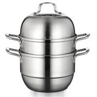 蒸锅不锈钢三层家用加厚复底3层蒸格蒸笼双层二层电磁炉蒸汽火锅