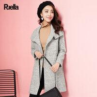 呢子大衣女春装新款韩版宽松矮个子时尚学生中长款圈圈呢毛呢外套