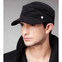 冬季时尚韩版男士帽子鸭舌帽男秋冬天帽子棒球帽平顶帽男军帽男