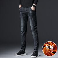 Lee Cooper男士青年秋冬厚款直筒时尚潮流牛仔裤