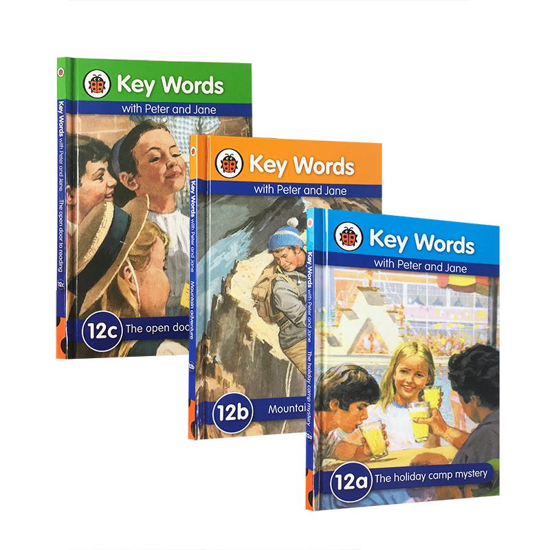 英文原版绘本 Key Words 12a12b12c 3本套装分级读物 幼儿启蒙认知学习用书 适合5-6岁入门者 英语学习与儿童成长故事融合