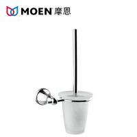 MOEN/摩恩 卫浴马桶刷 全铜带玻璃杯清洁刷 卫生间马桶刷架90027