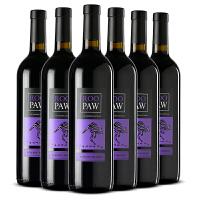 澳洲袋鼠红酒整箱 澳大利亚原瓶原装进口袋鼠(ROO)干红葡萄酒750*6支 紫罗兰袋鼠梅乐6支整箱