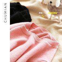 初棉2018冬装新款纯色羊绒衫女长袖套头毛衣100%山羊绒打底针织衫