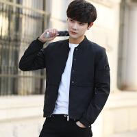 秋季男士夹克外套立领修身韩版潮棒球服青年帅气纽扣男装
