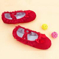 幼儿园宝宝粉红色芭蕾舞鞋跳舞鞋儿童舞蹈鞋女童软底鞋帆布练功鞋