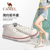 Camel/骆驼2019秋季新款 韩版学生板鞋潮流简约高帮鞋女