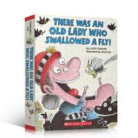 英文原版 There Was an Old Lady Who Swallowed a Fly! 有一个老妇人吞了一只苍