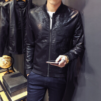 新款皮衣修身韩版机车服男士皮夹克短款S小码青年夜店外套