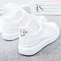 女鞋夏季休闲鞋女新款小白鞋女透气韩版时尚内增高单鞋 女鞋舒适系带学生 厚底松糕板鞋运动跑步鞋