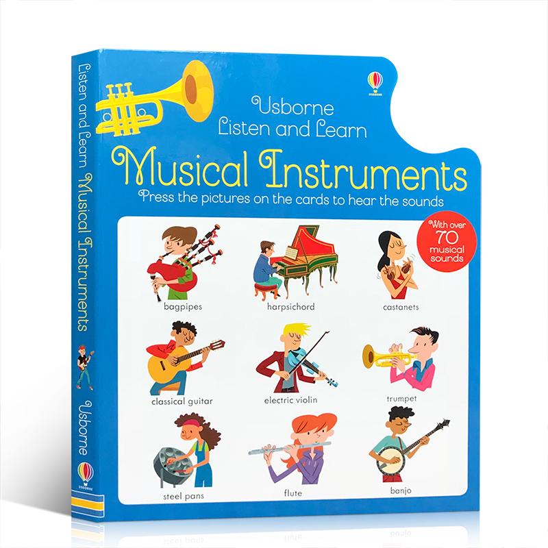 英文原版 Musical Instruments 乐器按压图片即可发声 儿童音乐启蒙 超过70种乐器声音 启发低幼宝宝的乐感 锻炼小手肌肉