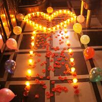 感恩节礼物浪漫求婚表白电子蜡烛套装LED仿真蜡烛灯微闪生日礼物创意礼品婚庆路引布置SN2222 浪漫电子蜡烛套装
