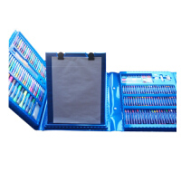 儿童画笔套装幼儿园水彩笔绘画用品美术画画工具小学生女生日礼物 176件蓝色套装 *包