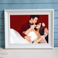 实木纯白色艺术照婚纱照片相框写真欧式24寸30寸大相框挂墙