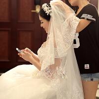 新娘婚纱礼服配饰配件蕾丝边饰品结婚头纱