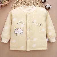 冬款棉婴儿单件上衣 小童夹棉套头棉衣服0-3岁婴幼童加棉内衣