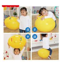 儿童手柄球蹦蹦球宝宝充气玩具鸡蛋球蛋形球跳跳球羊角球